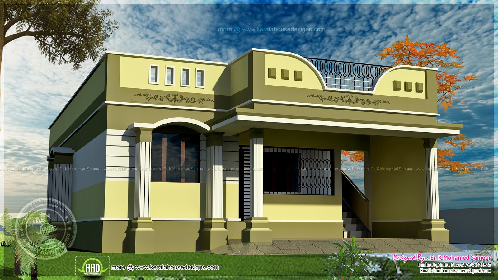 Chennai tamil nadu small house design one floor house for Chennai home designs and plans