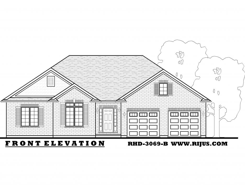 Country bungalow house plans raised bungalow house plans for Ontario home plans