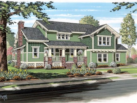Craftsman Bungalow Colors Exterior Traditional Craftsman Bungalow Cottage House Plan