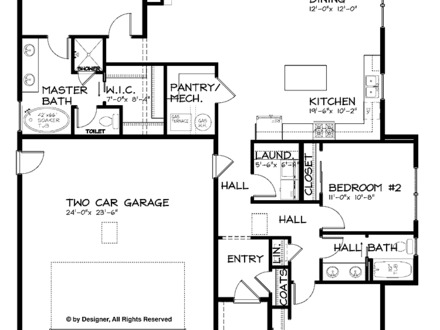 Craftsman Single Story Open Floor Plans Craftsman Single Story Garage