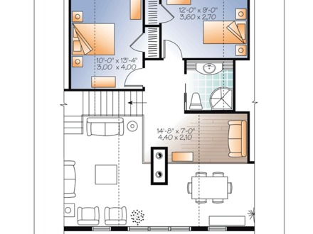 English Cottage House Plans Cottage Craftsman House Plan 76334 Level Two