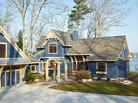 Exterior French Country Cottage Lake Cottage Exterior Colors