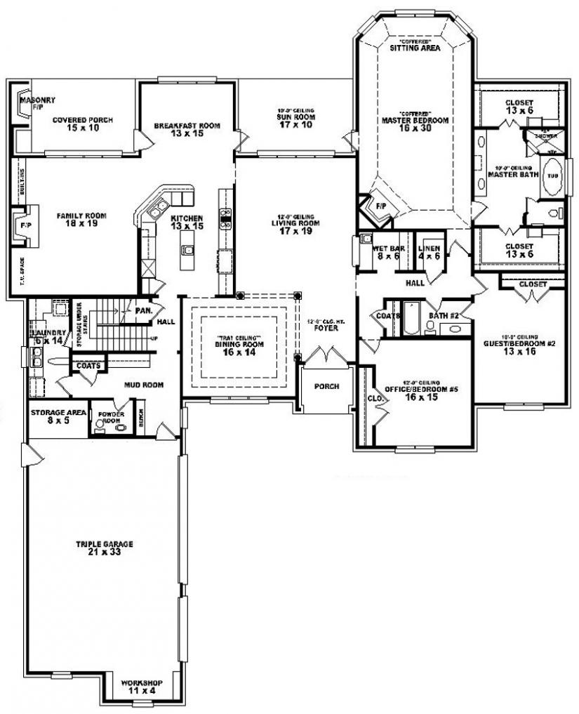 Floor Plans For 3 Bedroom 2 Bath House 3 Bedroom 2 Bath