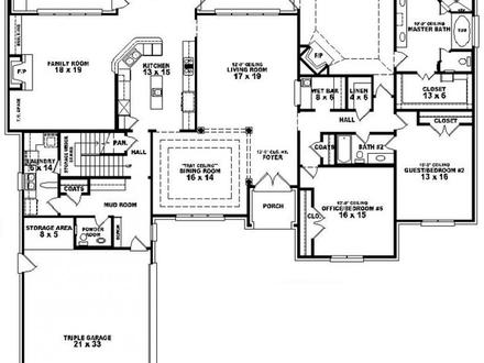 Floor Plans for 3 Bedroom 2 Bath House 3 Bedroom 2 Bath House Plans