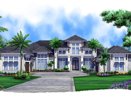 Small mediterranean house plans award winning for West indies style home plans