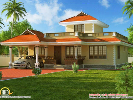 House Beautiful Plans in Kerala Beautiful House Plans Rear View