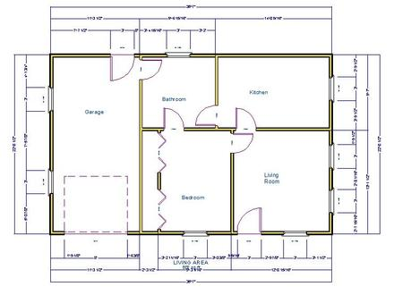 House Clip Art Simple House with One Car Garage Pro Barn Plans