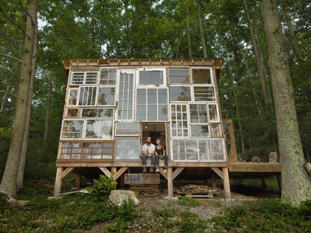 House Made Out of Glass House Made of Windows