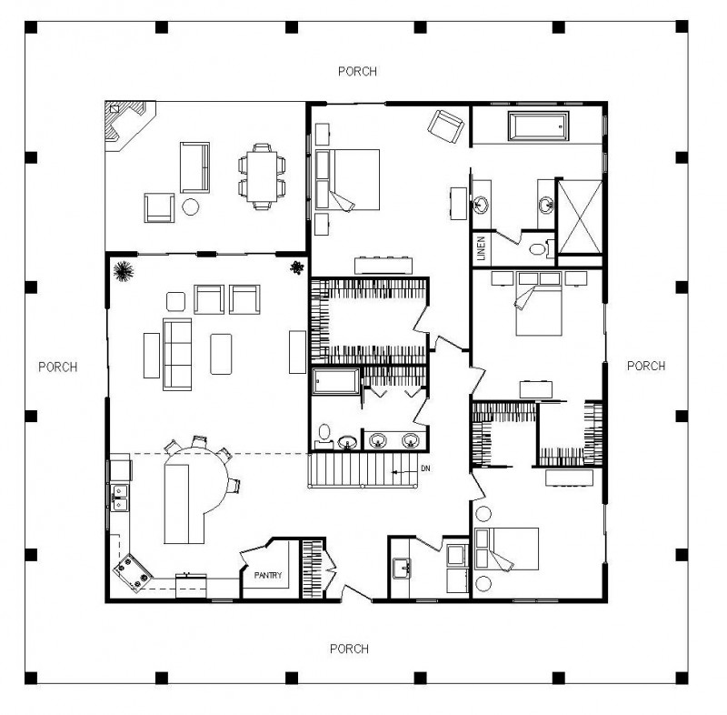 Large single story floor plans single story 2200 sq ft for 2200 sq ft house plans