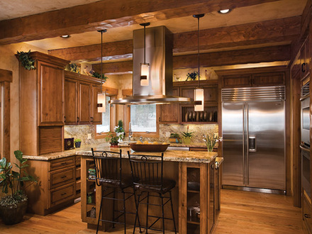 Log Home Open Floor Plan Kitchen Southern Log Homes Floor Plan