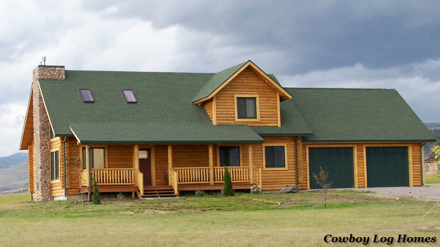 Log home plans with walkout basement log home plans with for House plans with wrap around porch and basement