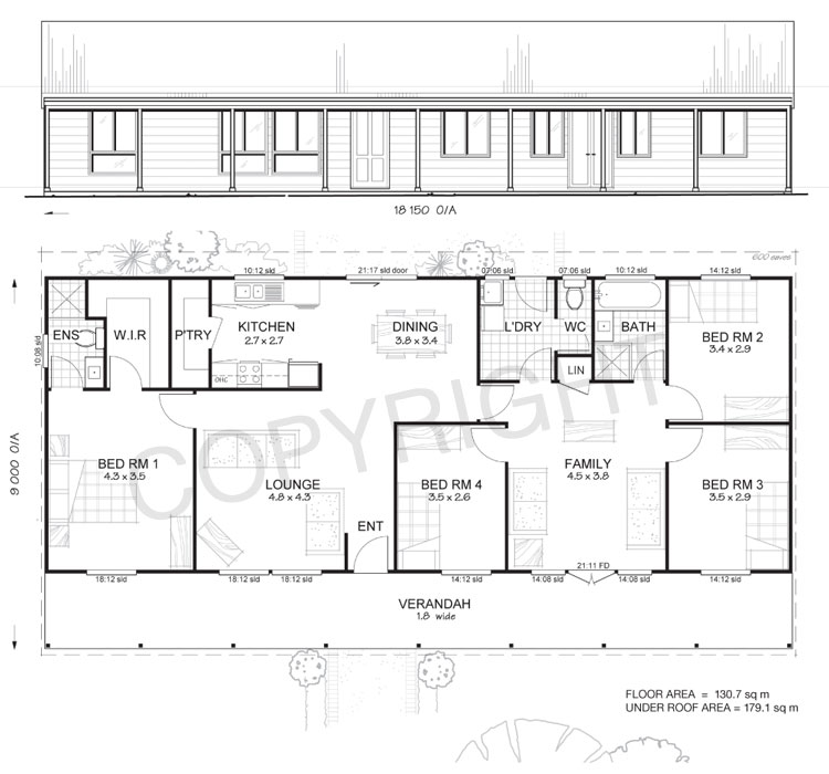 Metal building homes floor plans 4 bedroom metal building for 4 bedroom house inside