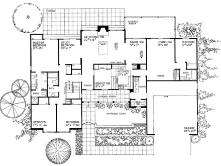 Modern One Story Ranch House Modern One Story House Floor Plans