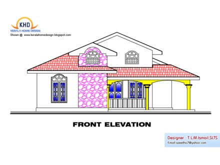 Modern Single Story Houses Elevations Single Story House Plans