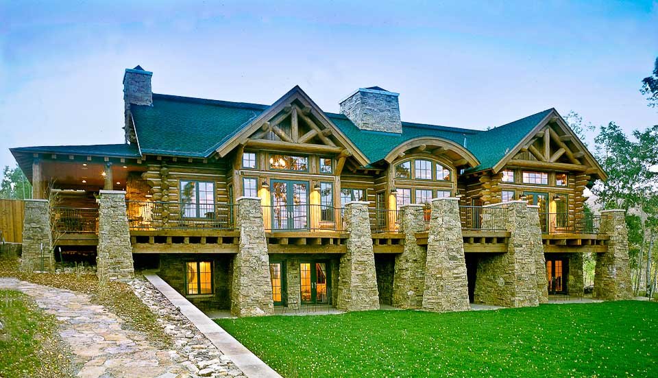 Mountain log homes of colorado rocky mountain log homes for Mountain home builders colorado