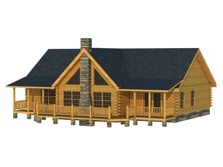 New Single Story Log Cabin Single Story Log Cabin Homes Plans