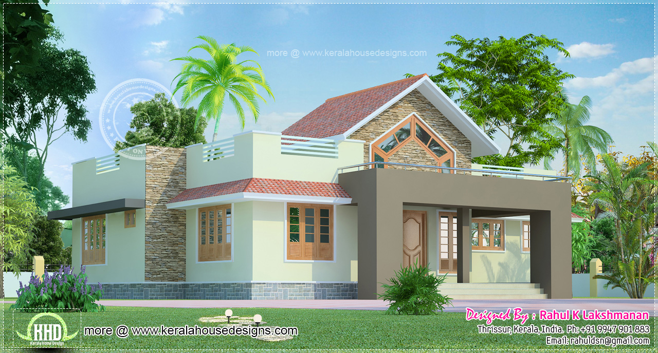 One Floor House Exterior Design Small Suburban House 1