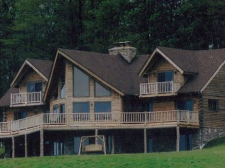 One Story Log Cabins 2 Story Log Cabin Homes