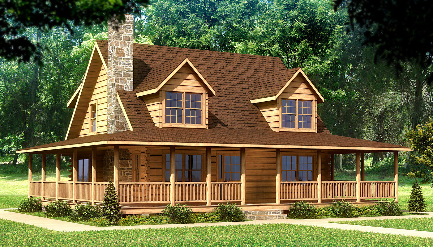 Log Beach House ~ Original log cabin homes home house plans beach