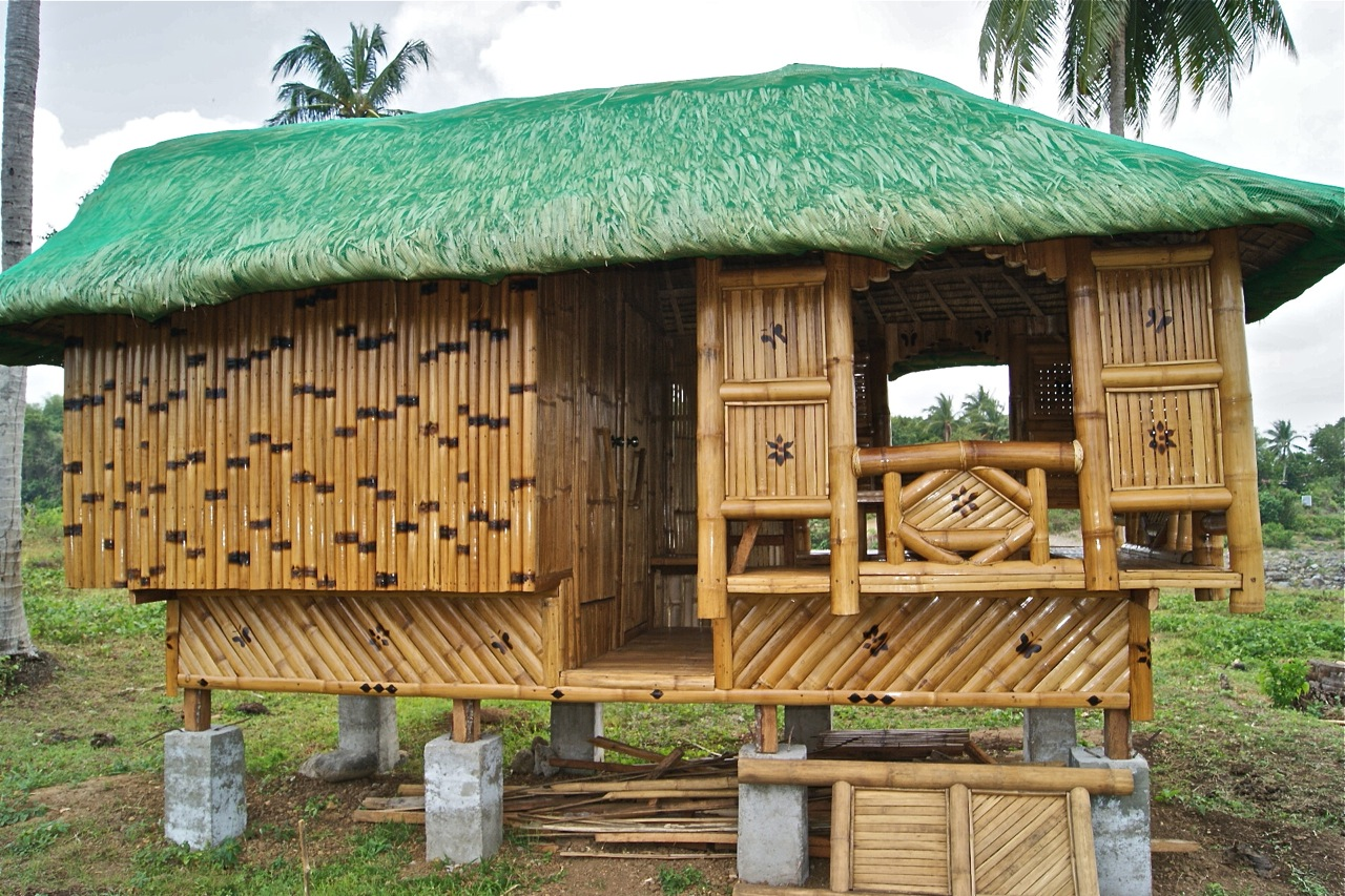 Philippine nipa hut designs bamboo models in the for Native house design