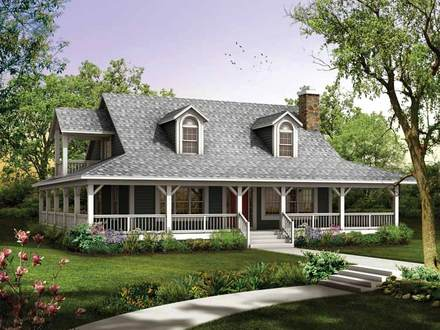 Country farmhouse house plans old style farmhouse plans for House plans walkout basement wrap around porch