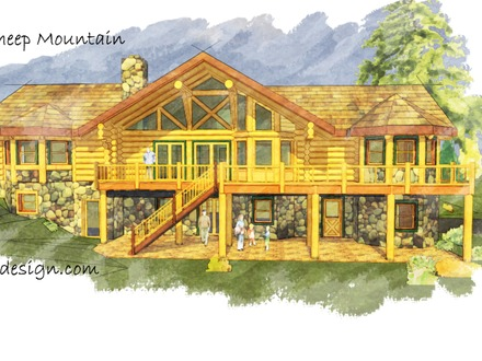 Ranch Style Log Home Plans Ranch Style Log Homes Montana