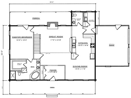 Rustic barn home plans barn cabin plans and designs for Rustic log cabin floor plans