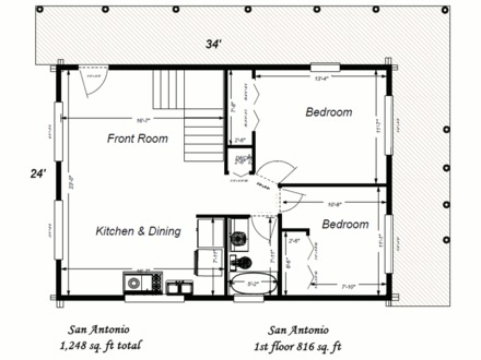 Rustic cabin plans small log cabin floor plans with loft for Rustic home plans with loft