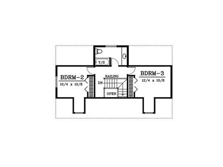 Second Floor Plan Rectangular Rectangular Floor Plans 3-Bedroom Ranch House