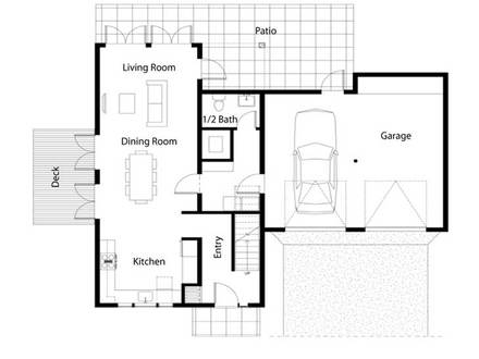 Simple House Floor Plan Simple Two-Story House Plans