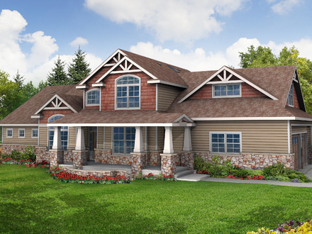 Single Story Craftsman House Plans Craftsman House Plan