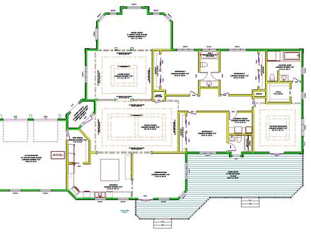 Single Story House Plans Country House Plans One Story