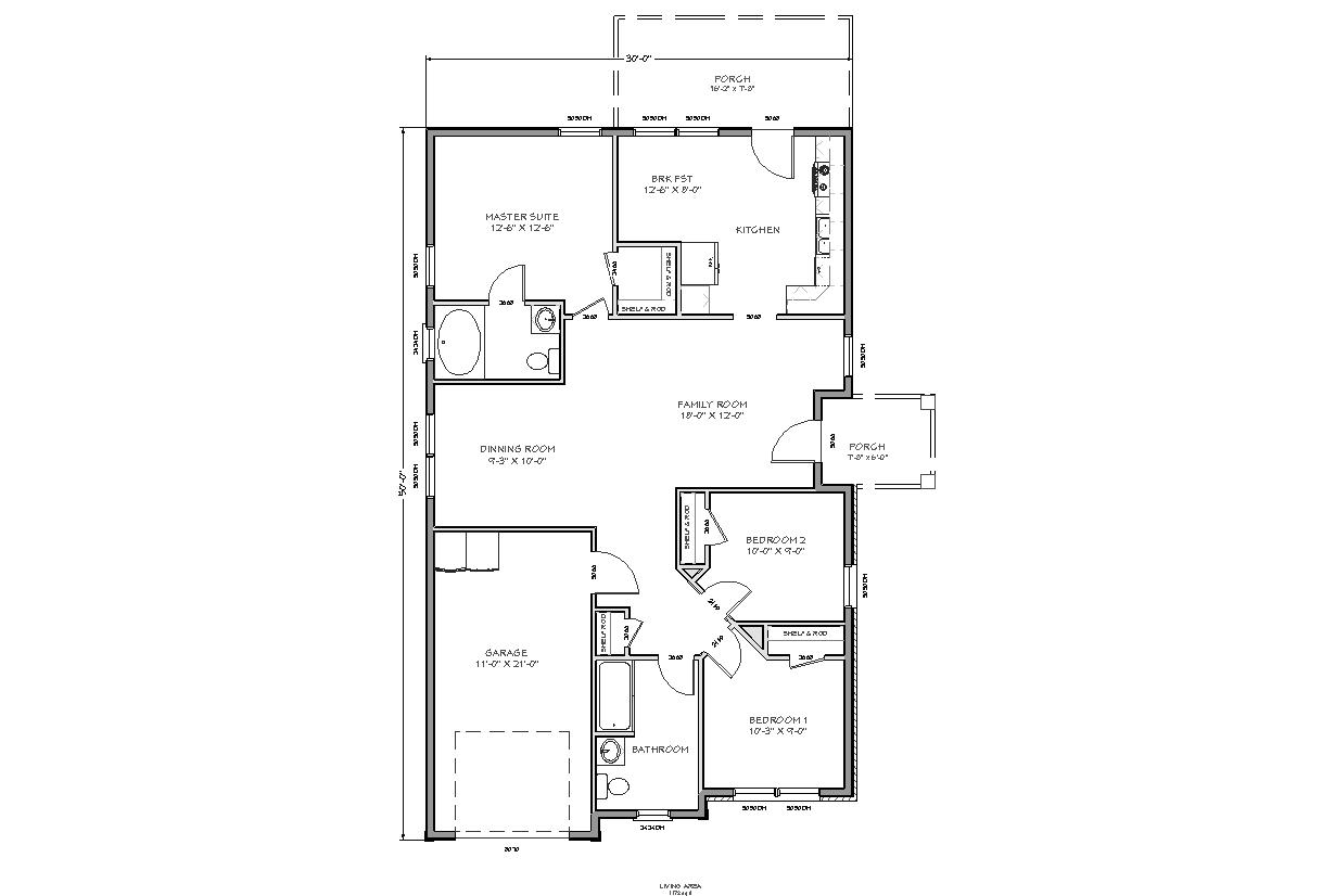 Small House Floor Plan Small Ranch House Plans