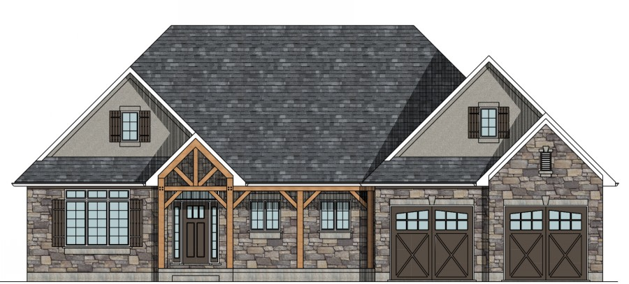 Small house plans bungalow style raised bungalow house for Rancher house plans canada