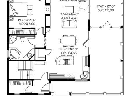 Small One-Bedroom Cottage Plans One Bedroom Home Plans