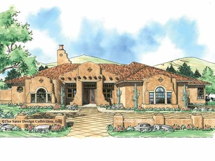 Supply House in a Spanish Mission Spanish Mission Style House Plans