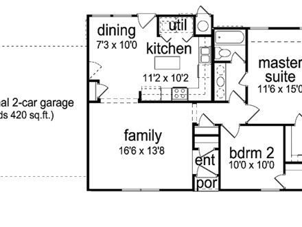 Three Bedroom House Plans Two Bedrooms House Plan