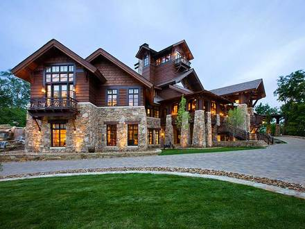 Wisconsin log homes floor plans montana log homes log and for Ranch style timber frame homes