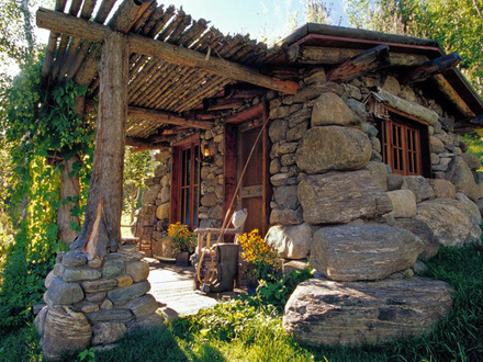 Tiny Stone Cabin Stone Cottage House