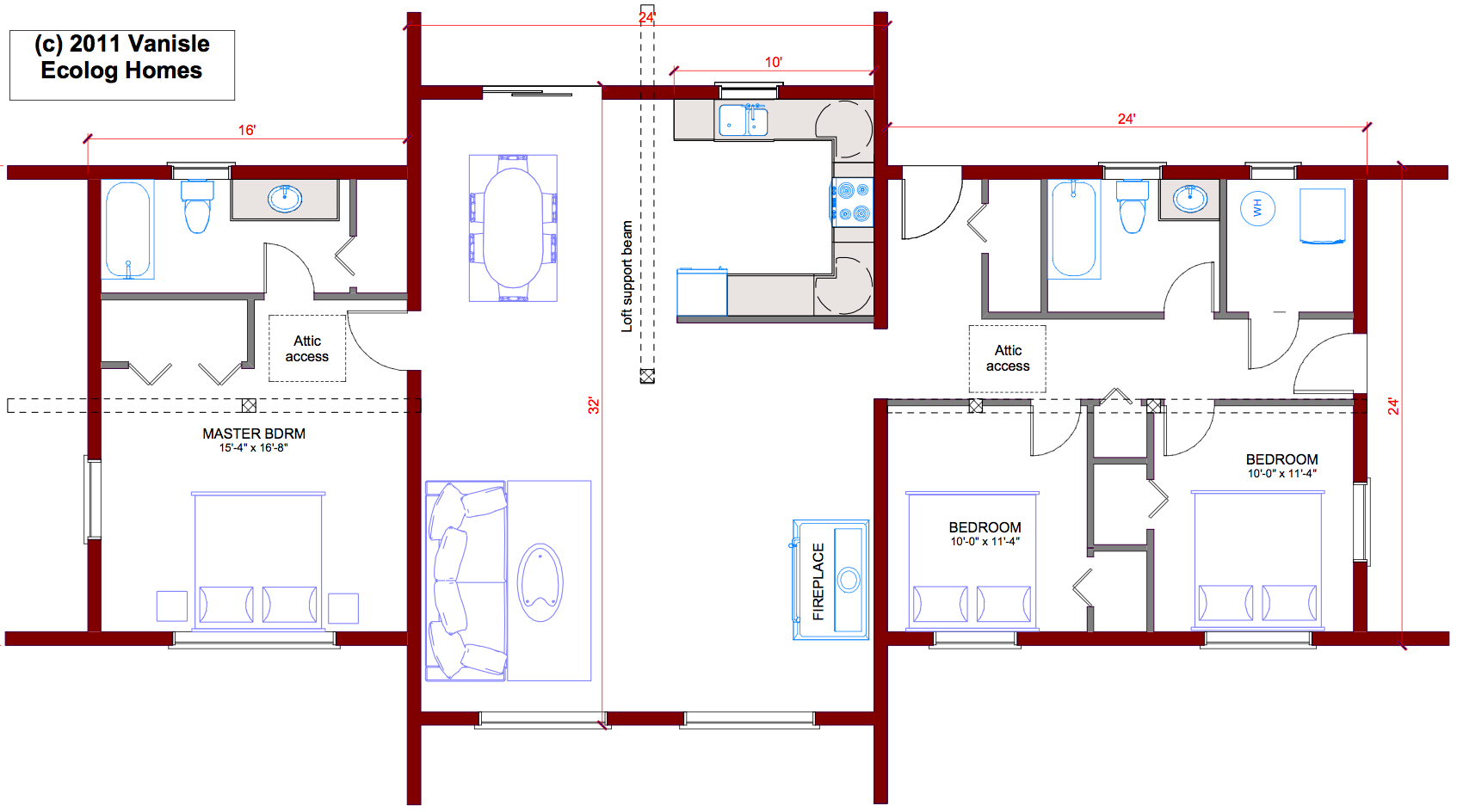 Southern Living House Plans With Basements Two Bedroom Bungalow Open Concept Bungalow Open Concept