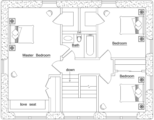 Very small house plans small floor plans under 1000 sq ft for Cabin floor plans under 1000 square feet