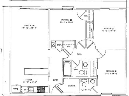 1000 Square Foot House Plans 3 Bedroom 500 Square Foot House