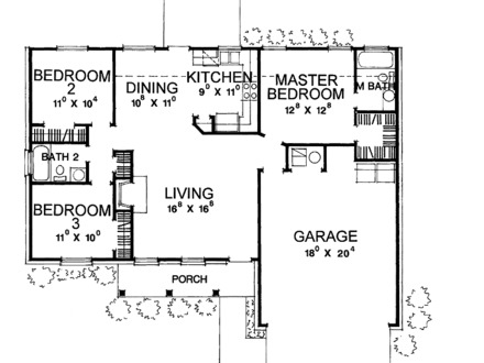 Small home plan house design floor plans for small homes for 1100 sq ft ranch house plans