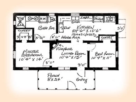 2 Bedroom House Plans 2 Bedroom Ranch House Plans