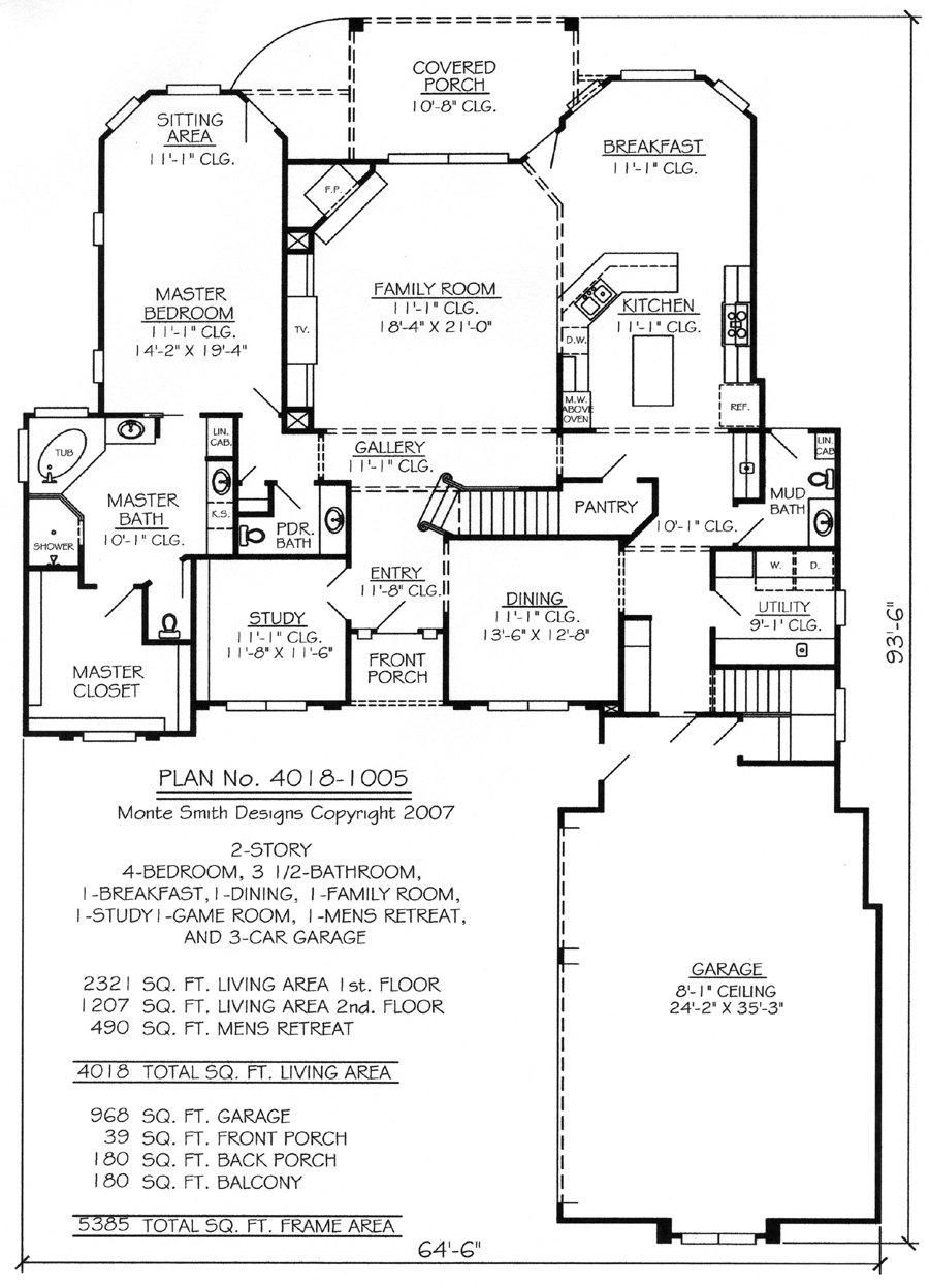 2 Story House Plans with Loft Custom 2 Story House Plans