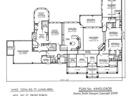 4 bedroom open house plans 4 bedroom house plans modern for One story apartments