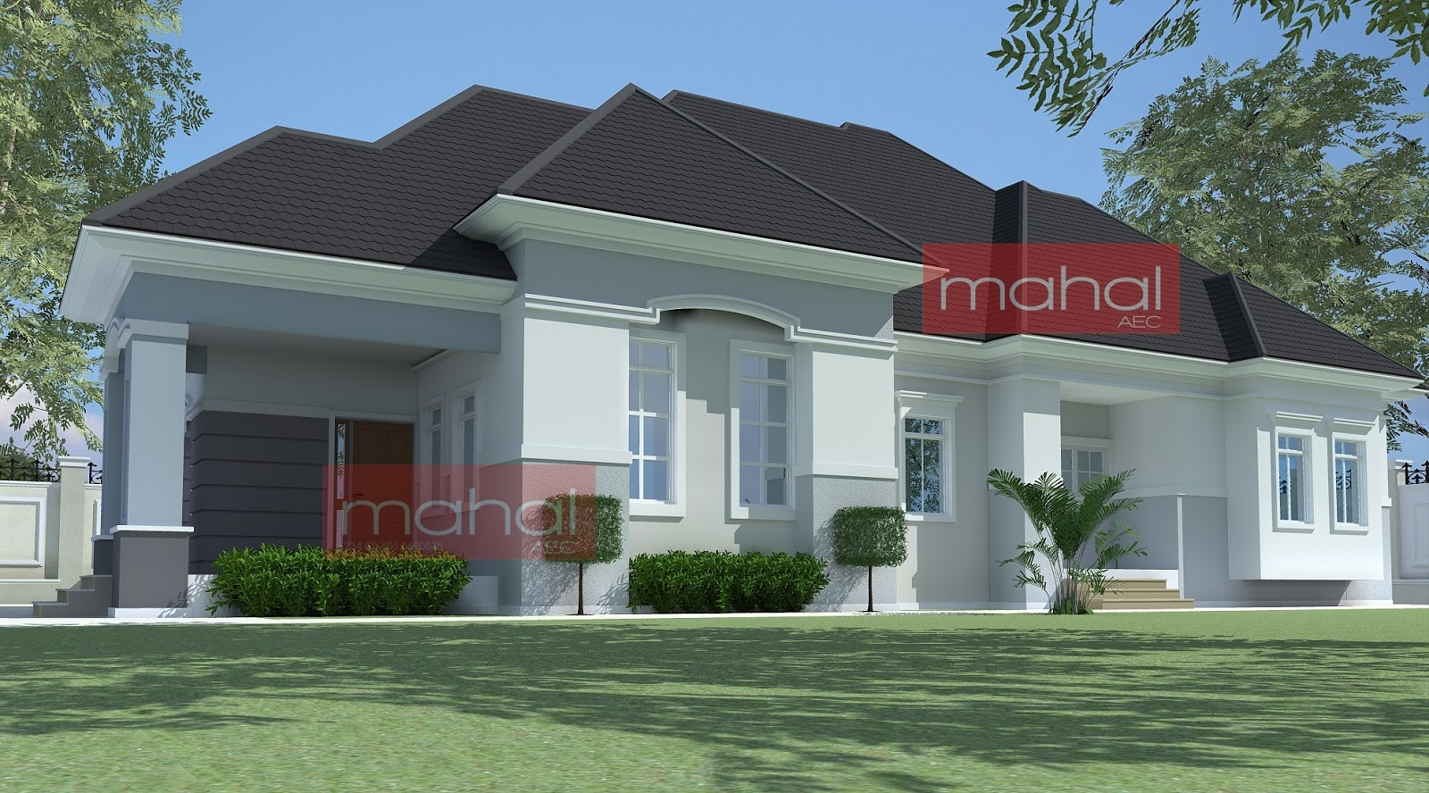 4 bedroom bungalow house plans nigerian design 4 bedroom for 1 story brick house plans