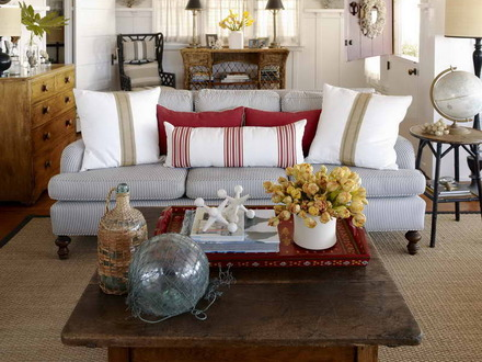 Beach Cottage Living Room Decor Shabby Cottage Chic Living Room