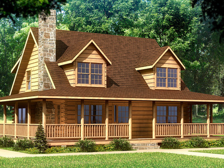 Blueprints for Log Cabin Homes Log Cabin Home House Plans