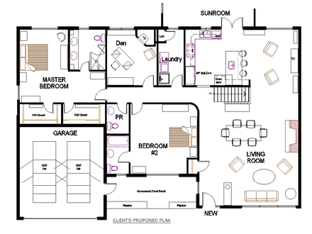 Colonial house plans bungalow house plans bungalow for Colonial floor plans open concept